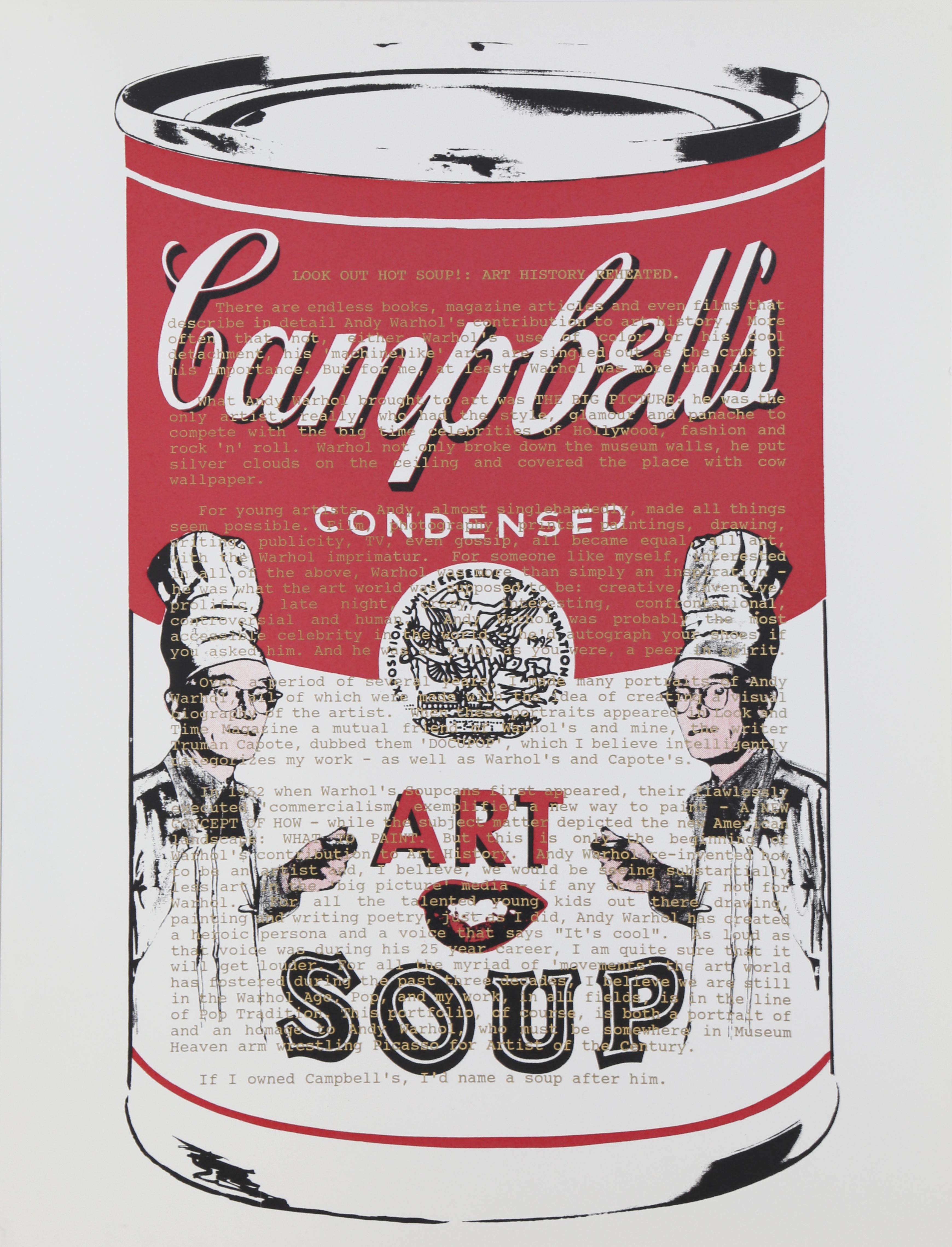Campbells Soup with Text, Pop Art Silkscreen by Mike McKensie
