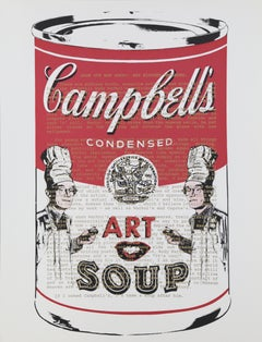 Campbells Soup with Text, Pop Art Silkscreen by Mike McKensie