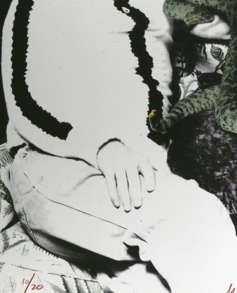 Truman Capote and Snake, Silkscreen by Mike McKensie For Sale 1
