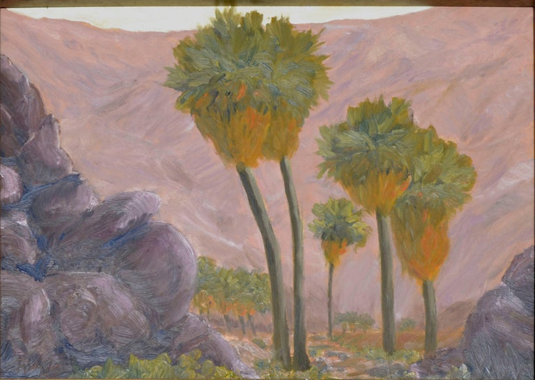 Palms and Mountains - Painting by Mike Wright