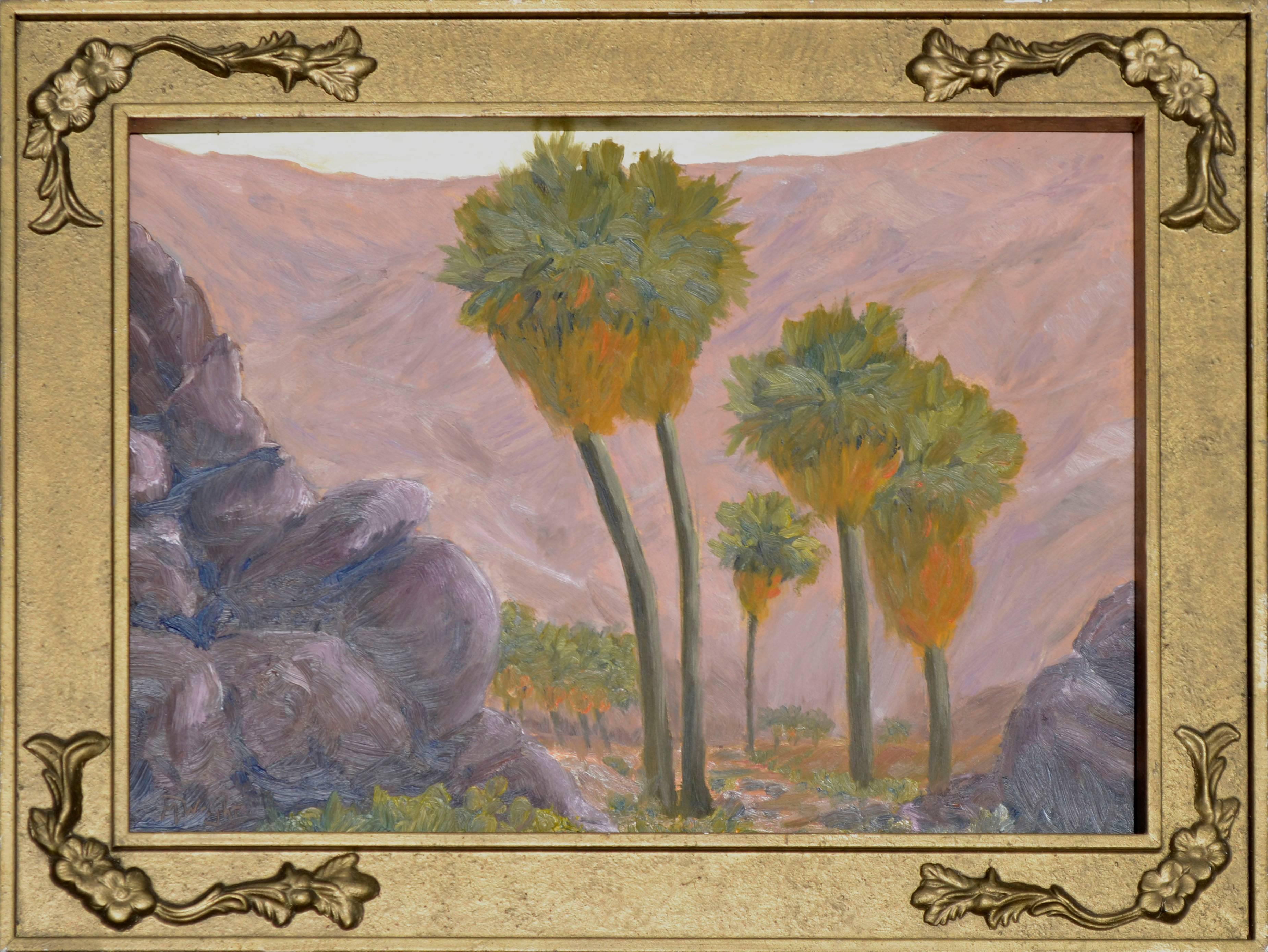 Palms and Mountains Landscape