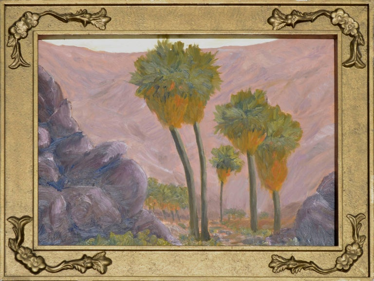 Mike Wright Landscape Painting - Palms and Mountains