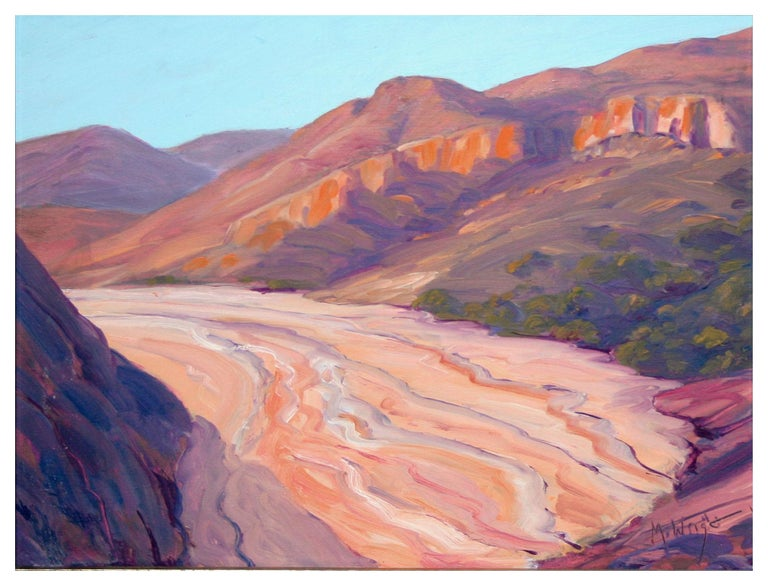 Red Rocks Utah Landscape - Painting by Mike Wright