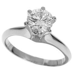 Mikimoto 1.01 Carat Diamond Platinum Ring