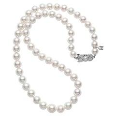 Mikimoto Akoya Cultured Pearl Graduated Strand, 18 Karat White Gold G90118V1W