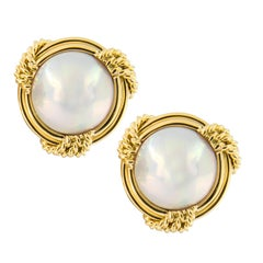 Mikimoto 18 Karat Gold Mabe' Pearl Earrings