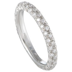 Mikimoto 18 Karat White Gold Diamond Band Ring