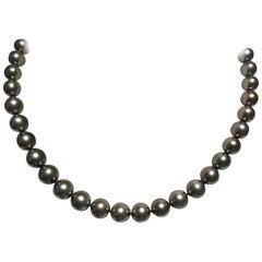 Mikimoto Black South Sea Pearl Necklace