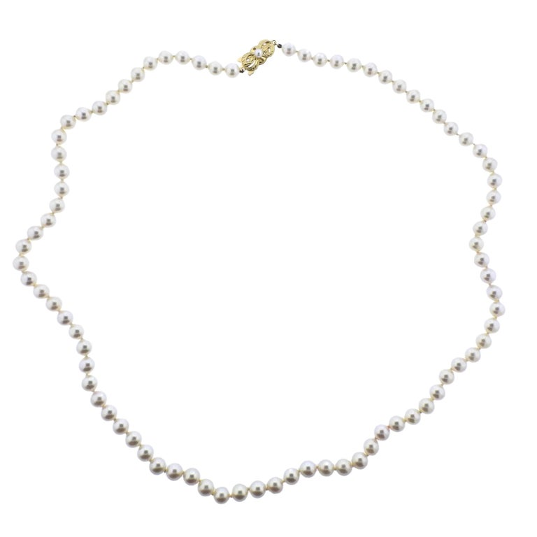 Mikimoto Gold Pearl Strand Necklace