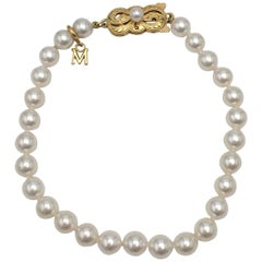 Mikimoto Gold and Pearl Bracelet