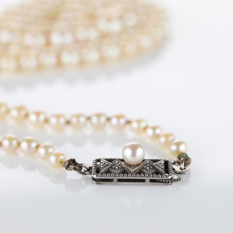 Art Deco Mikimoto Original Strand of First Viable Cultured Pearls, circa 1920s For Sale