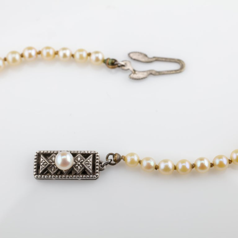 Mikimoto Original Strand of First Viable Cultured Pearls, circa 1920s In Excellent Condition For Sale In Southbury, CT