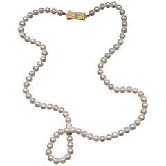 Mikimoto Vintage Akoya Pearl Necklace Pristine
