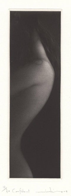 Confident (profile of young nude girl with wisps of hair on her neck)