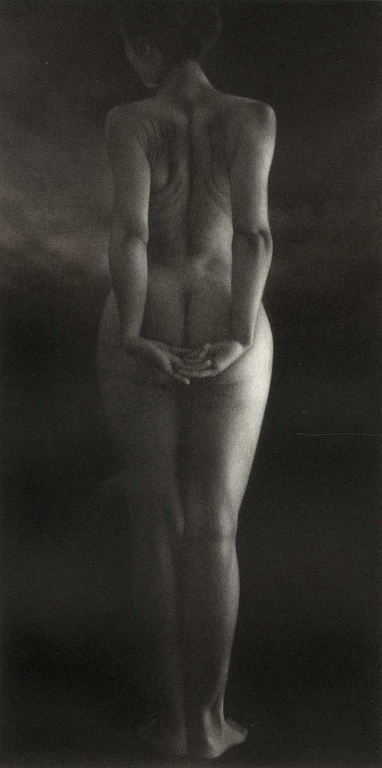 Mikio Watanabe Nude Print - Crepuscule (literally means Dusk. Standing young nude woman facing away)