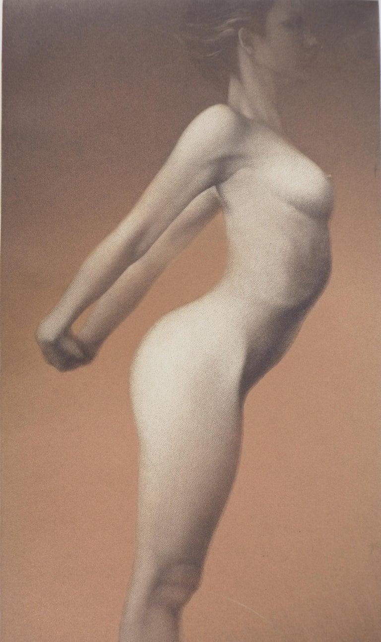 Female nude - Original handsigned etching / 90ex - Modern Print by Mikio Watanabe