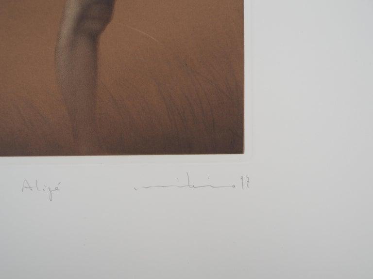 Female nude - Original handsigned etching / 90ex For Sale 1