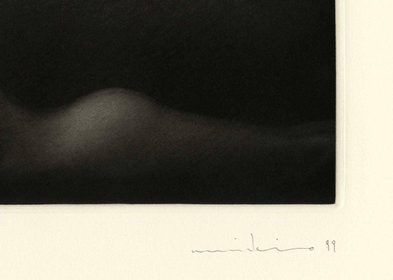 Le Point du Jour II (A young nude woman in repose at daybreak) - Black Figurative Print by Mikio Watanabe