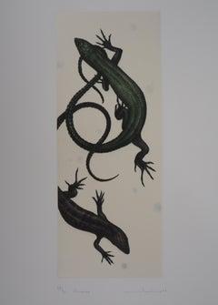 Lizards - Original handsigned etching / 90ex