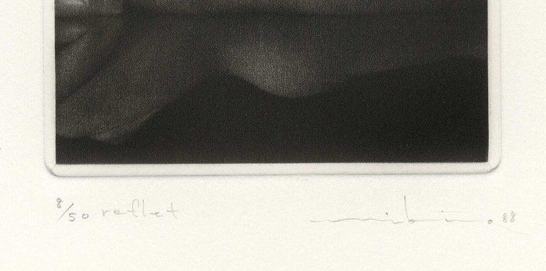Reflet - Black Nude Print by Mikio Watanabe