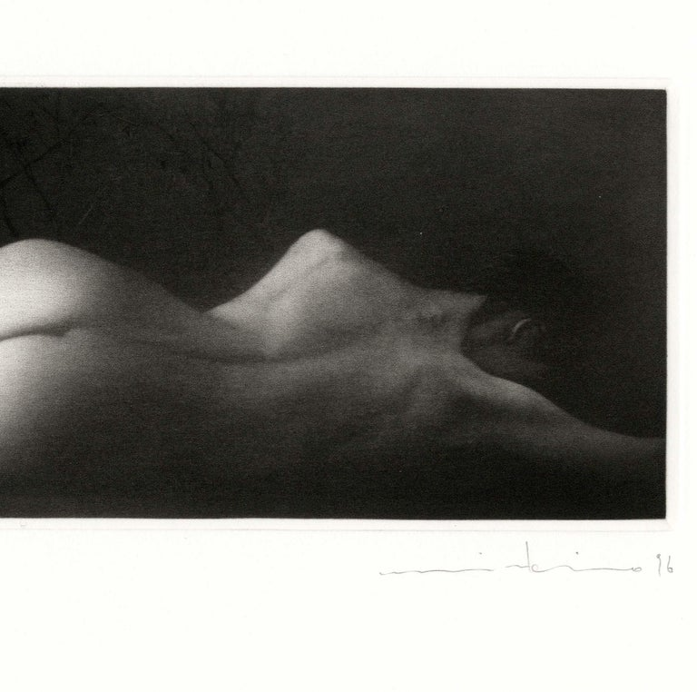 Sommeil (a sensuous nude woman sleeps on her side) - Contemporary Print by Mikio Watanabe