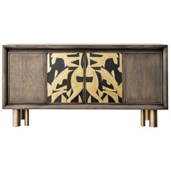 Mila Abstract Painting Sideboard by Chiara Provasi