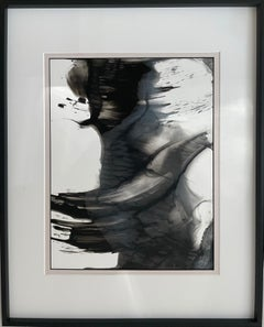 A boat --abstract painting, made in black, beige, grey and white color