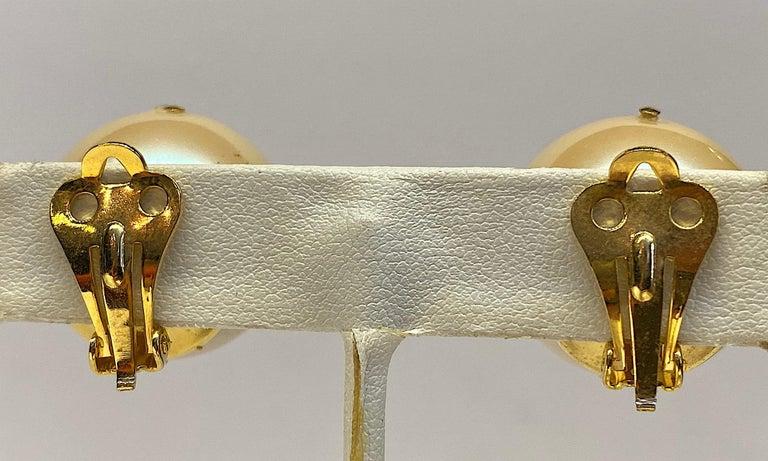 Women's Mila Schon 1980s Large Faux Pearl Earrings For Sale