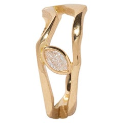 Milamore Fine Jewelry 0.07 Carat Diamond Kintsugi Hoop Earring