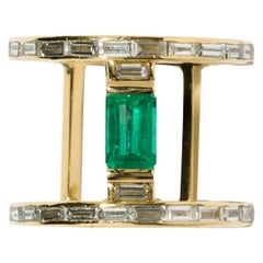 Milamore Fine Jewelry 0.8 Carat Emerald Ring