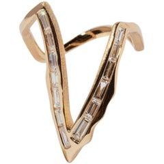 Milamore Fine Jewelry 0.95 Carat Diamond Kintsugi Deep V-Ring