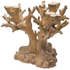 Milan Carved Wood Base