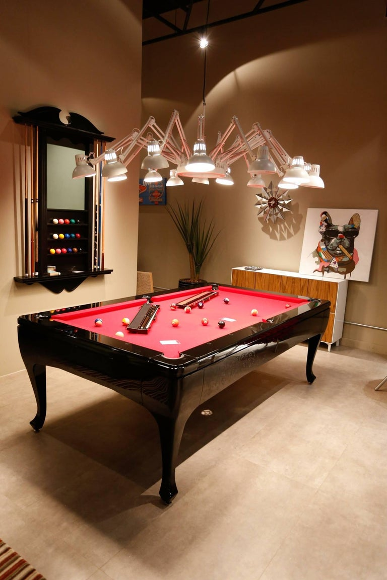 Brazilian Customizable Modern Luxury Pool Table in Lacquer For Sale