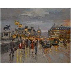 Milan Miletic, Pont Neuf, Paris, Oil on Canvas