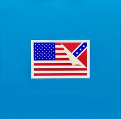 The State of America: Contemporary Political Square Painting in Red White + Blue