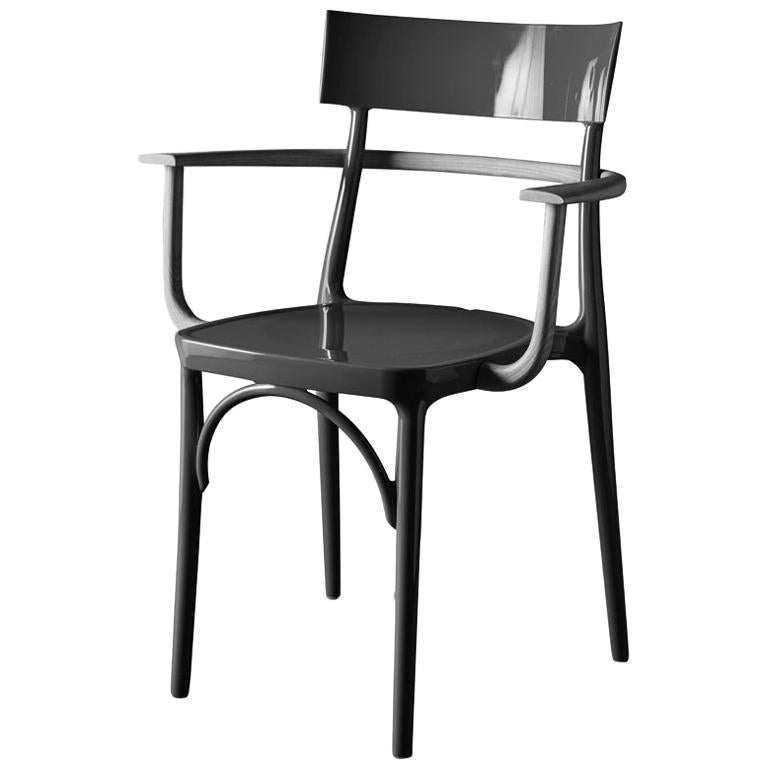 In Stock in Los Angeles, Milani, Glossy Black Polycarbonate Armchair