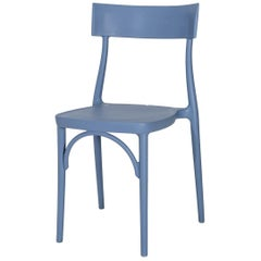 Milani, Steel Blue Polypropylene Dining Chair, Made in Italy