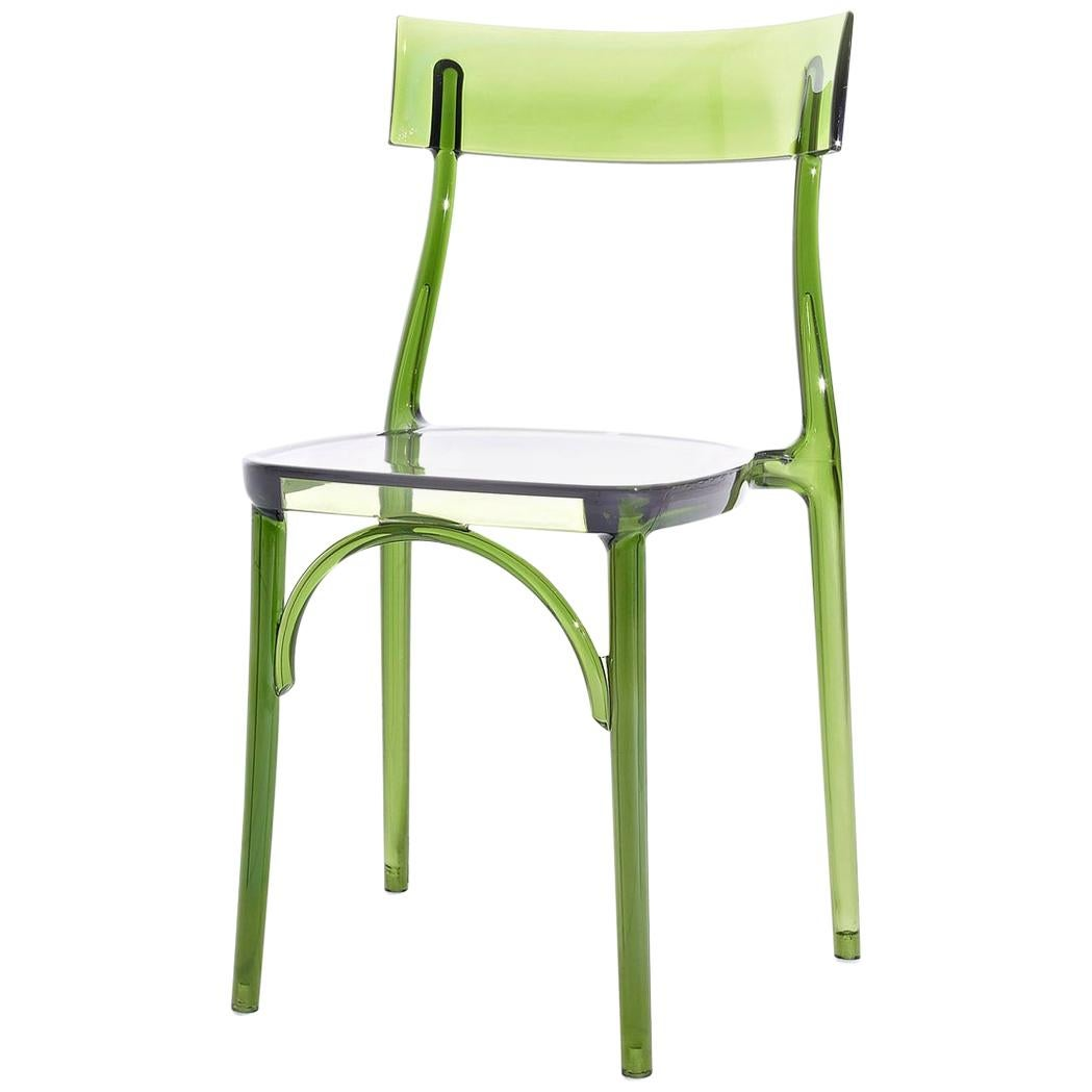 In Stock in Los Angeles, Milani, Transparent Green Polycarbonate Dining Chair