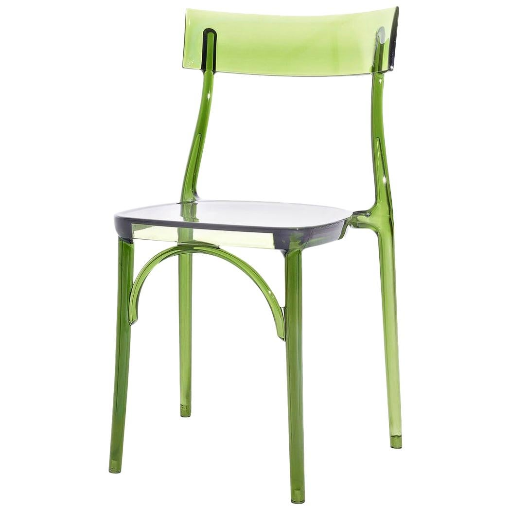 Milani, Transparent Green Polycarbonate Dining Chair