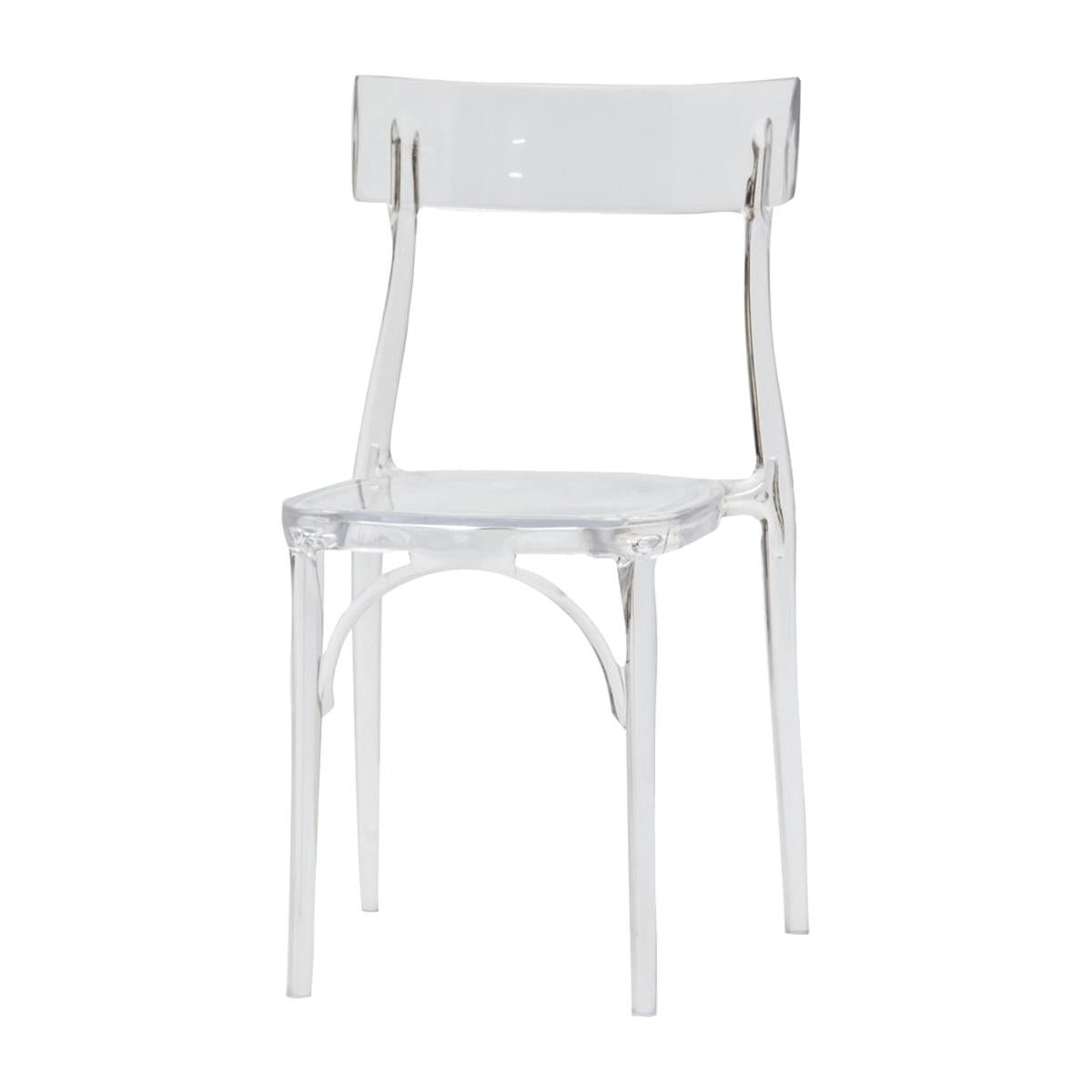 Milani, Transparent Polycarbonate Dining Chair by Bestetti, Made in Italy