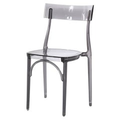 In Stock in Los Angeles, Milani, Transparent Grey Polycarbonate Dining Chair