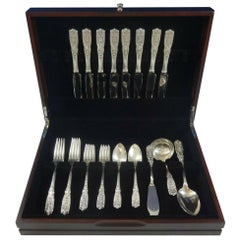 Milburn Rose by Westmorland Sterling Silver Flatware Set for 8 Service 36 Pieces