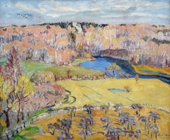 Autumn landscape  1930, oil on canvas, 40x60 cm