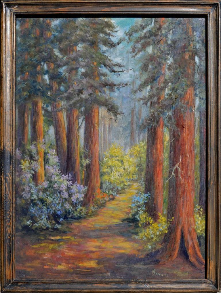 Mildred Vejtasa Fenner  Landscape Painting - Henry Cowell Redwoods