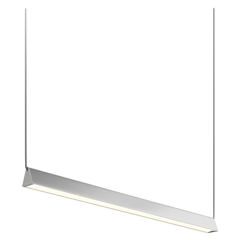 Mile 04, Polished Aluminum Linear Suspension, LED For Sale