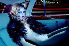 A Dazzling Beauty #1 – Miles Aldridge, Woman, Nude, Fashion, Erotic, Car, Night