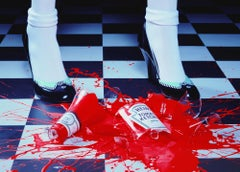 A Drop of Red #2 – Miles Aldridge, Woman, Fashion, Glamour, Shoes, Ketchup, Red
