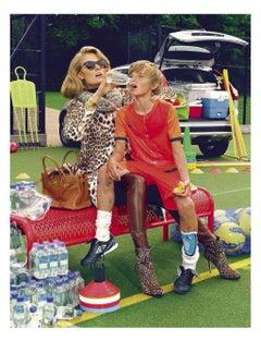 A Perfect Mum #3  – Miles Aldridge, Woman, Fashion, Colour, Soccer, Sport