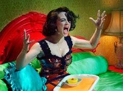 Actress #6 – Miles Aldridge, Woman, Fashion, Glamour, Portrait, Colour, Interior