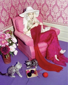 Cat Story #5 – Miles Aldridge, Woman, Fashion, Erotic, Model, Cat, Flowers, Art